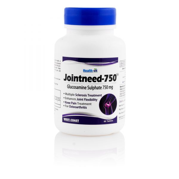 Healthvit Jointneed-750 Glucosamine Sulphate 750 mg 60 Tablets – Pack of 2