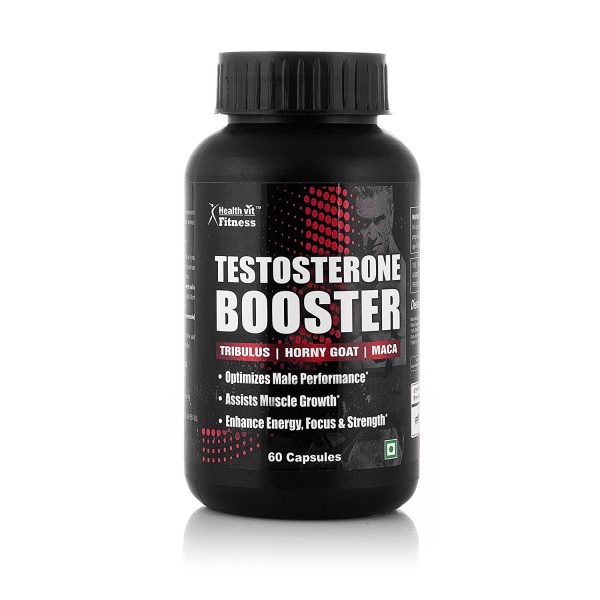 Healthvit Testosterone Booster Supplement, Boost Men Muscle Growth & Energy 60 Capsules