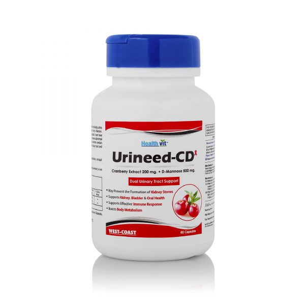 Healthvit-Urineed-CD-Cranberry-Extract-200-mg.-D-Mannose-500-mg.-60-Capsules-For-Urinary-Tract-Cleanse-Bladder-Health-Fast-acting-Potency-Strong-Lasting-Protection-Clean-