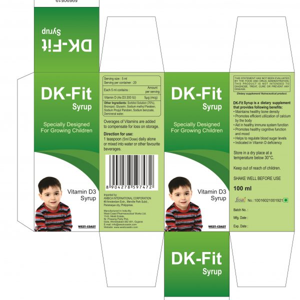 DK-FIT SYRUP BOX