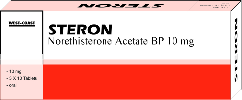 STERON-10 (NORETHISTERONE ACETATE BP 10 MG)